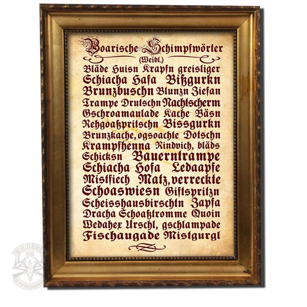 Wilderer Shop. Bayerische T-Shirts & Geschenke - Plakat